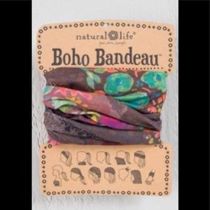 Natural Life Boho Headband Bandeau Green & Brown